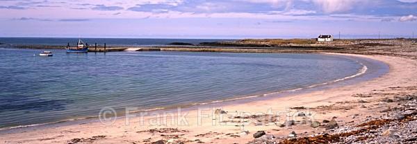 Poll Na Craan bay, Benbecula, Outer Hebrides, Scotland (Panoramic) - Benbecula