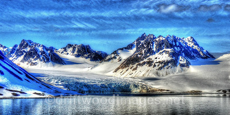 Svalbard Magdelana Fjord tidewater glacier HDR reduced - High Dynamic Range pictures