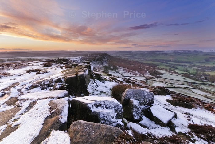 Dawn Sunrise | Curbar, Cold Moring in the Peak District