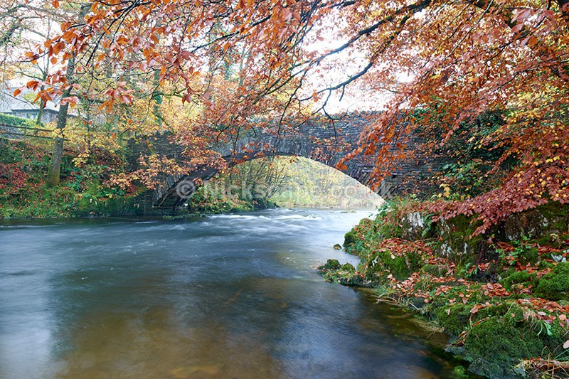 Clappersgate Bridge - River Brathay in Autumn - Lake District - Lake District National Park