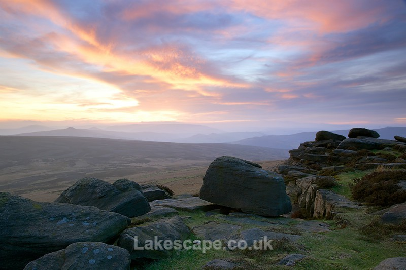 Stanage Sunset 3609 - The Peak District
