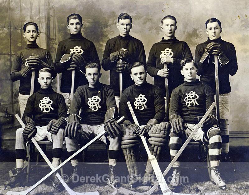 RCS 1917 Second Hockey Team Rothesay New Brunswick Canada - Historic New Brunswick