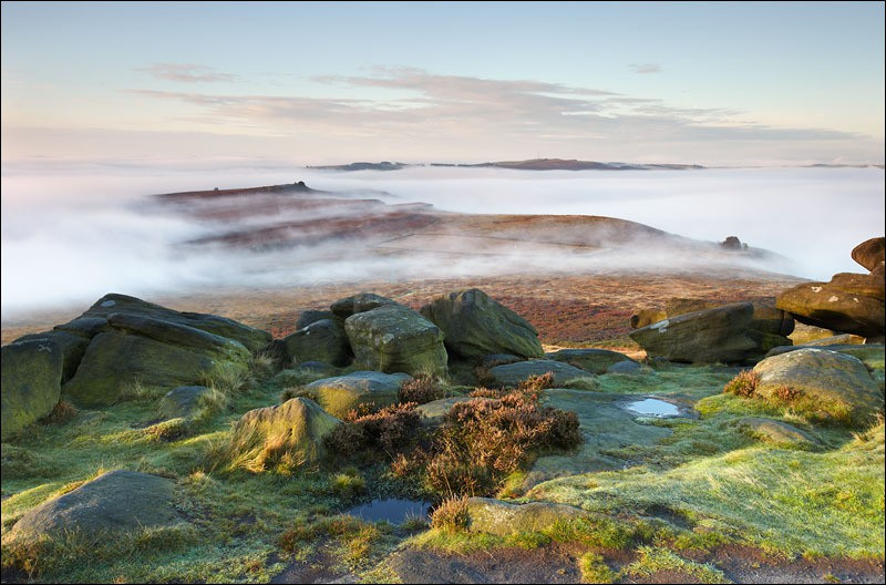 Parting Mists Over Owler Tor - Peak District | Dark Peak