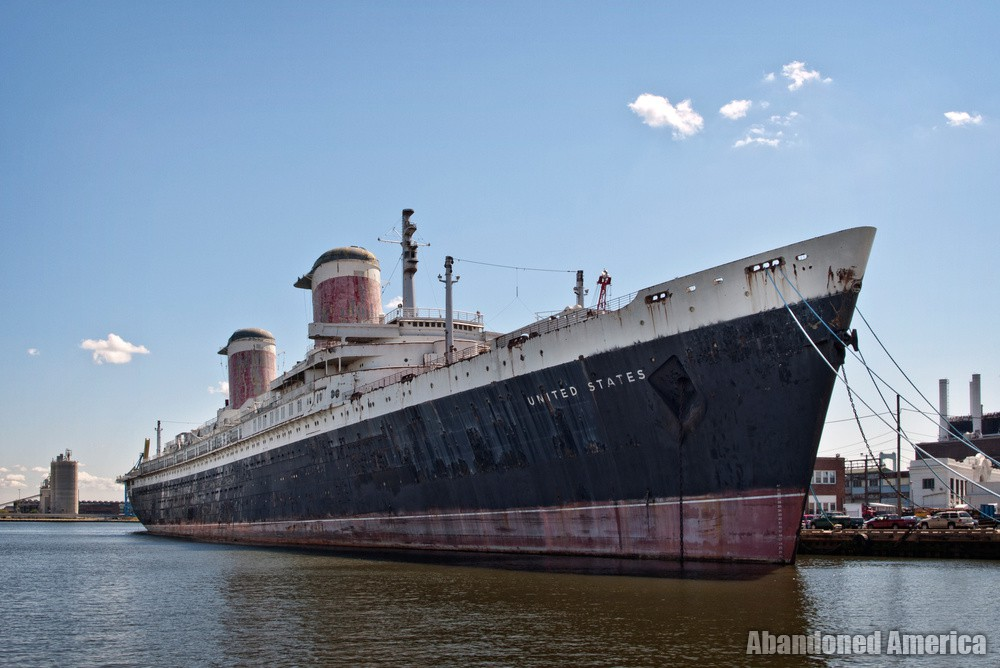 the fleeting nature of immortality   SS United States (Philadelphia, P - SS United States