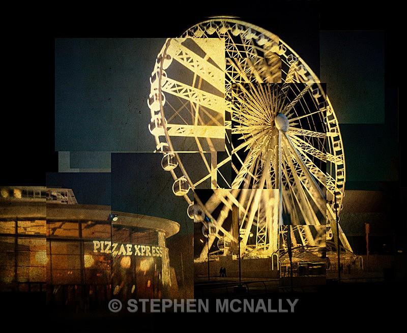 Pizza Wheel - Photographic Cubism