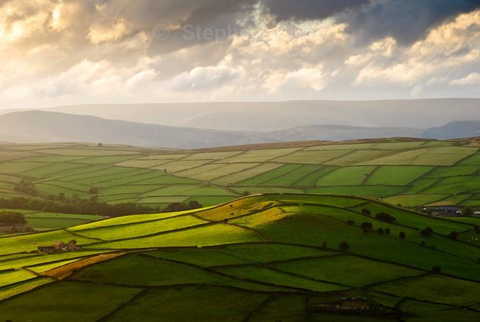 Field Patterns in Derbyshire | Eyam Moor | Peak District