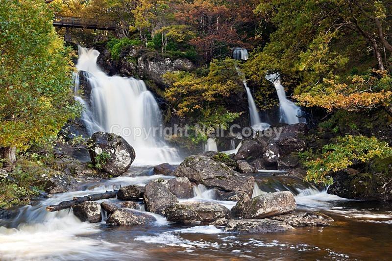 Falls of Arklet Water, Inversnaid, Loch Lomond, The Trossachs - Landscape format