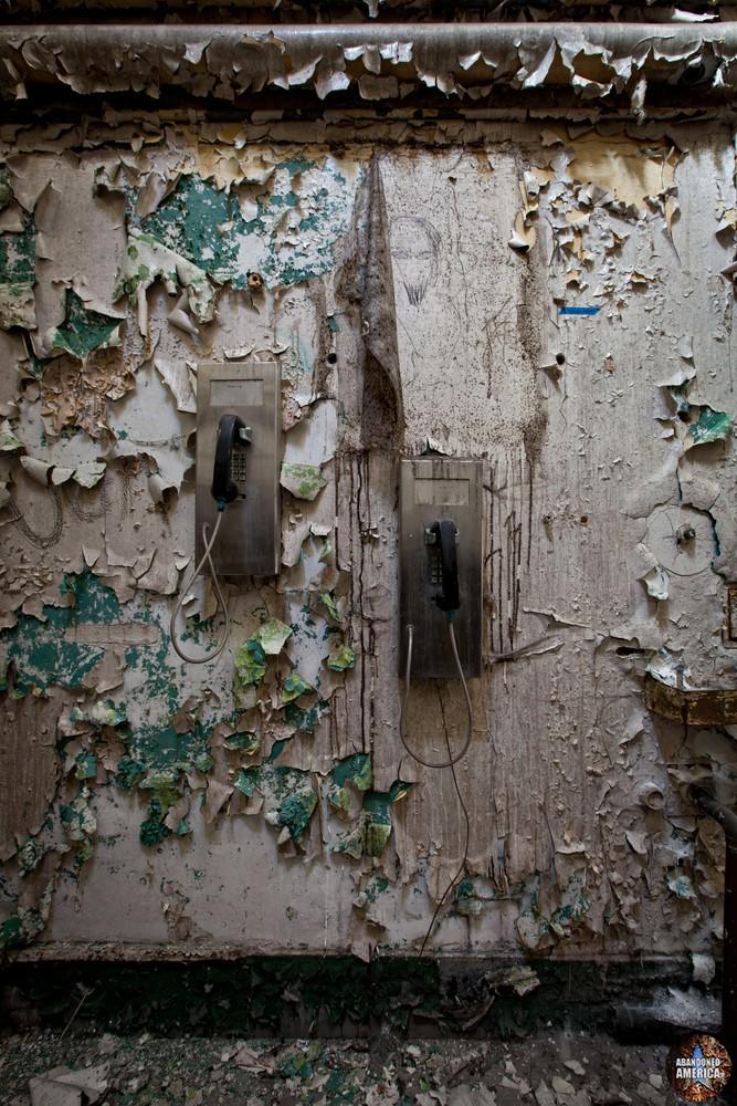 Pay phones, Holmesburg Prison, Philadelphia PA | Abandoned America by Matthew Christopher
