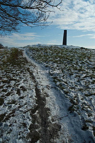 Trail to the hilltop chimney - Winter