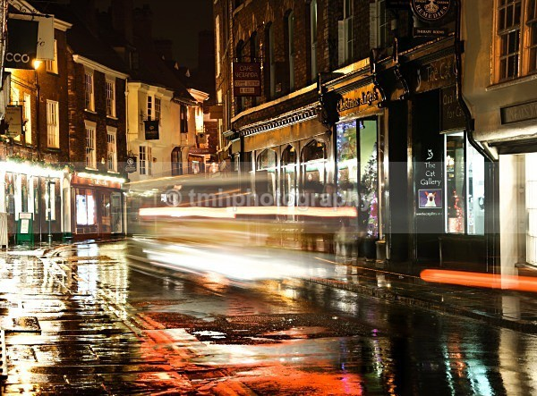 Low Petergate Night Bus - Low Light Photography
