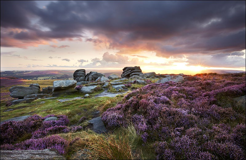 Higger Tor Sunburst - Peak District | Dark Peak