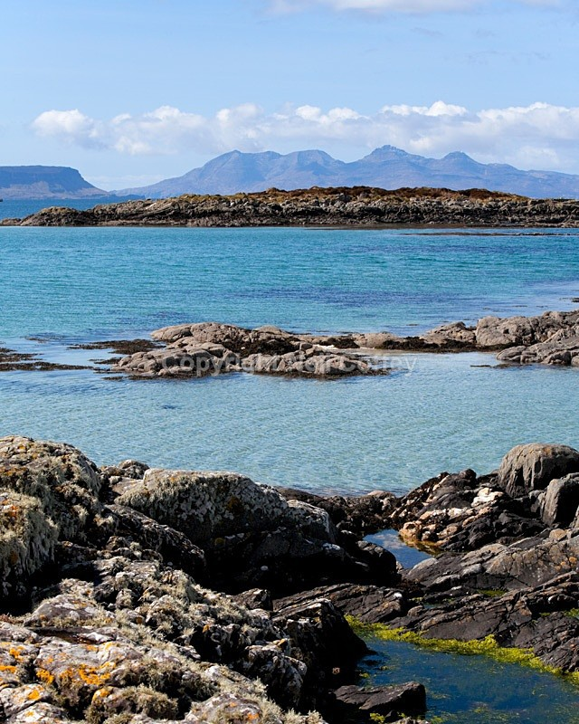 Isle Of Rum from near Arisaig, Highland - Portrait format
