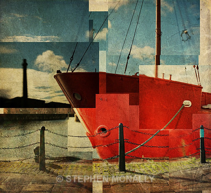 Red Ship - Photographic Cubism