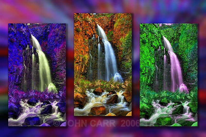 Moralta Falls Triptych-1 - MONTAGES