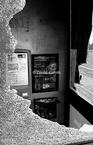 Vandalised Phonebox - Dereliction