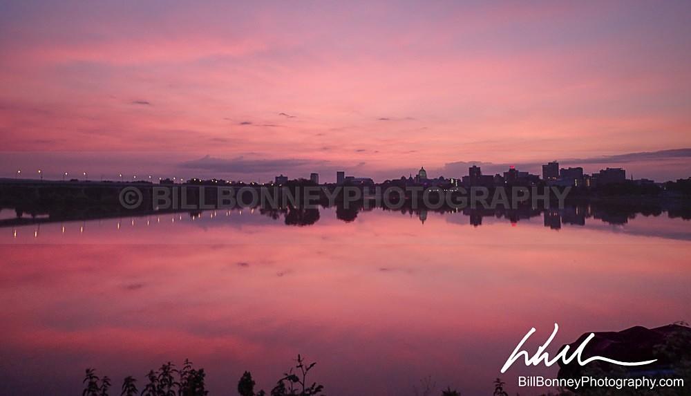 Pink Surise over Susquehanna - Harrisburg Area, Pennsylvania