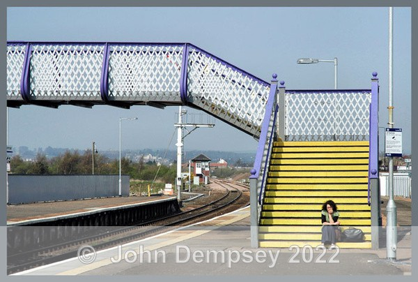 Sitting in the Railway Station - Buildings and Statues in Montrose