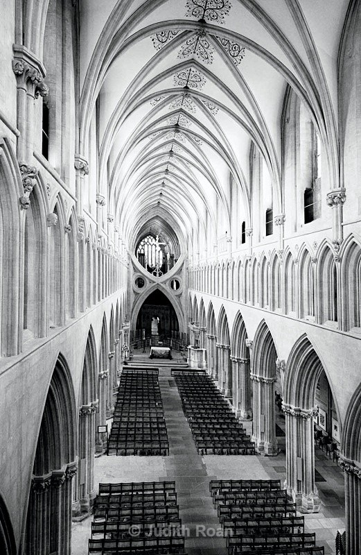 Wells Cathedral from above - Images from England