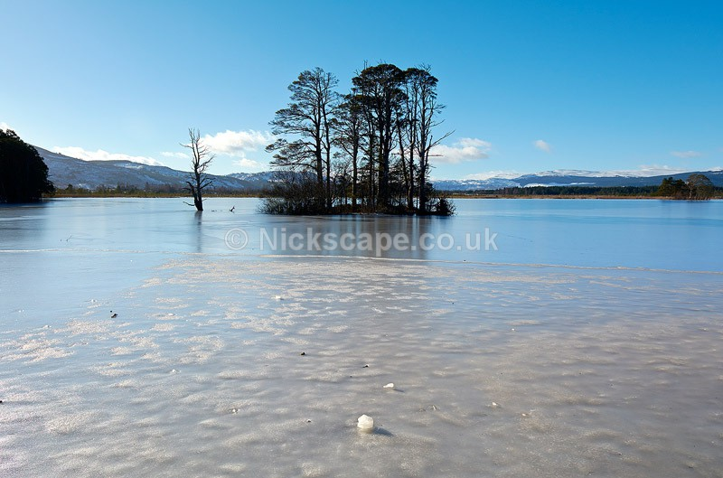 Photo of the frozen Loch Mallachie | Cairngorms Photography Gallery