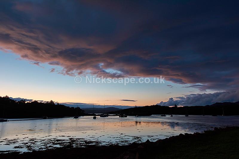 Sunset over Loch Gairloch at Badachro - Scottish Highlands - Scotland