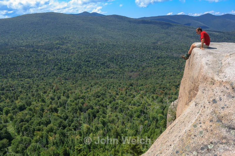 Hiker on Rogers Ledge II - White Mountain National Forest and Northern New Hampshire
