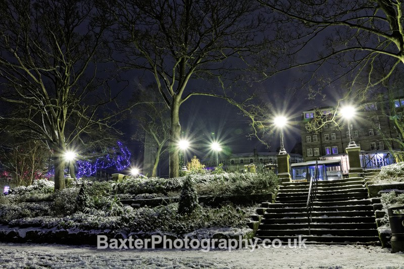 Snow At The Pier - Harrogate Town