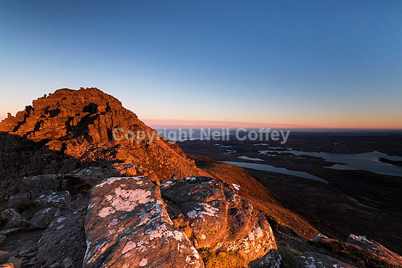 Inverpolly sunrise from Stac Pollaidh, Highland - Landscape format