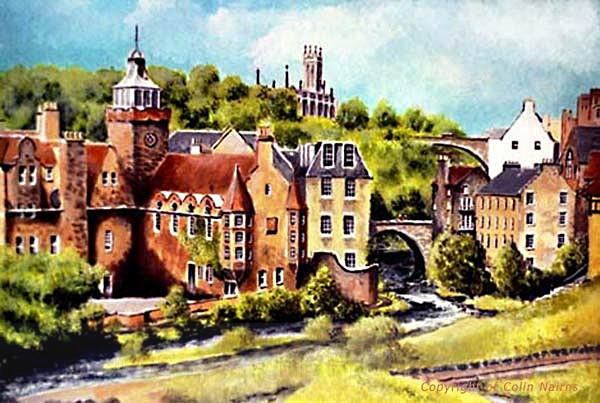 'Dean Village, Edinburgh' - Edinburgh Paintings