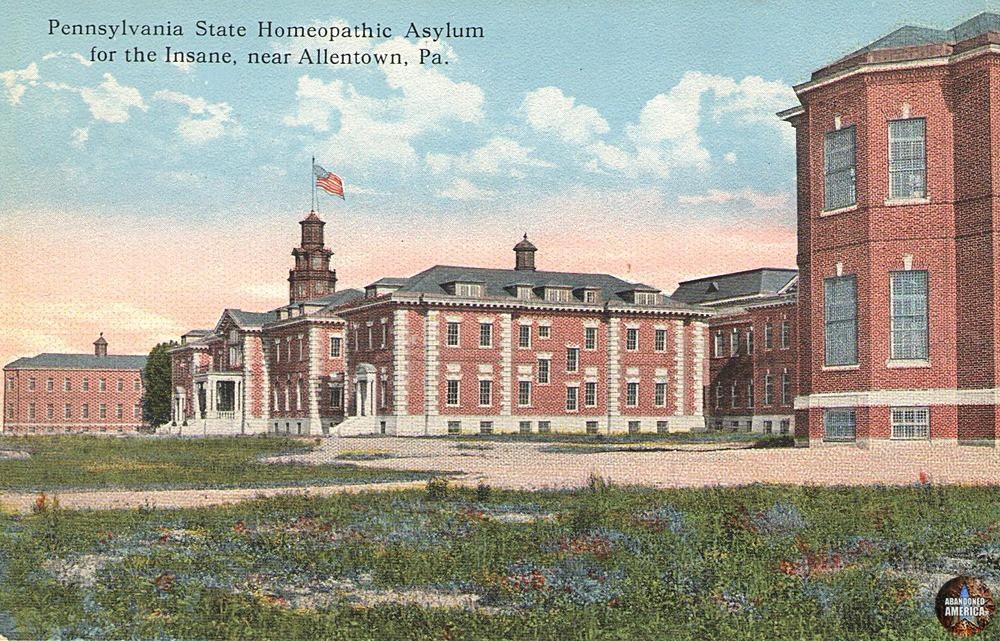 Pennsylvania State Homeopathic Asylum for the Insane Postcard