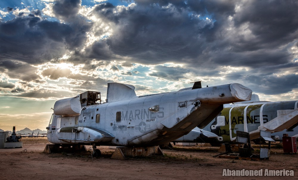 Helicopter at AMARG Aerospace Reclamation and Maintenance Group, Tucson AZ - Matthew Christopher Murray's Abandoned America