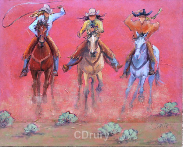 Cowgirls to the Rescue - WET PAINT