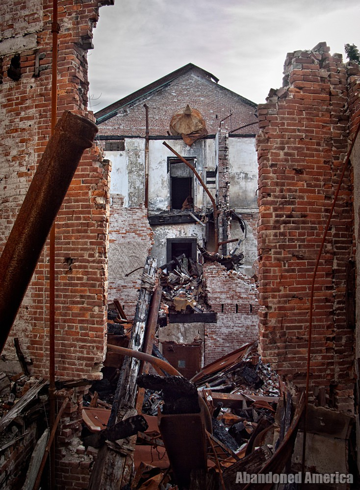 View of collapse, Taunton State Hospital