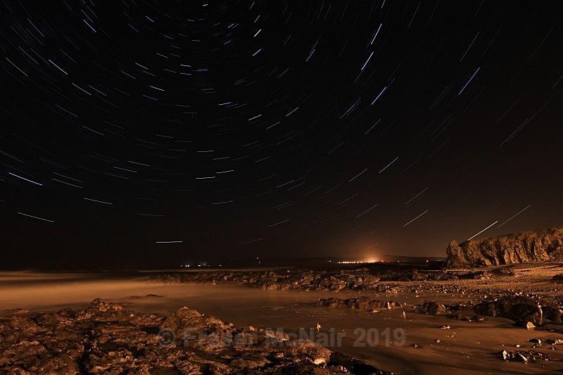 Star trail Machrihanish - Night Photography