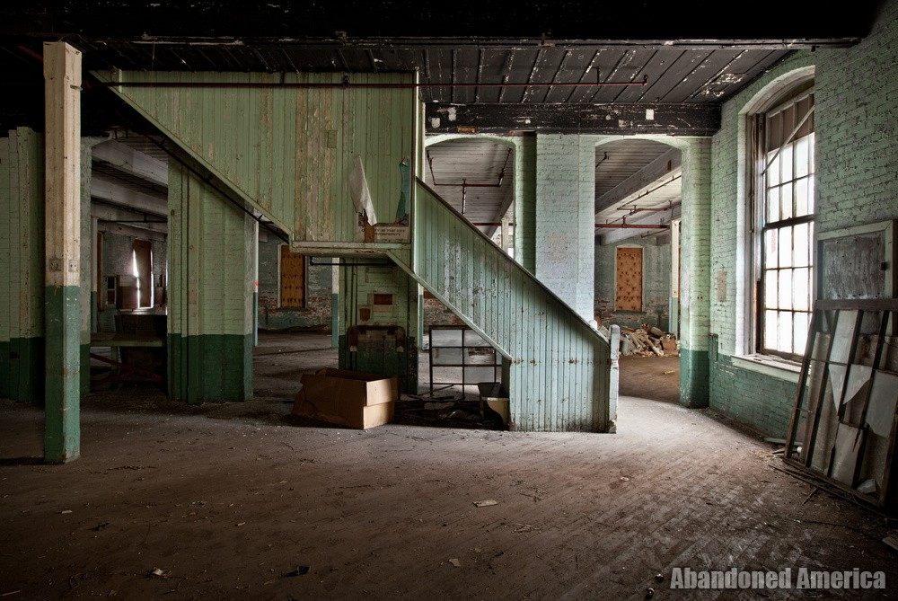 Simon Silk Mill, Easton PA: Industrial Stairs   Abandoned America
