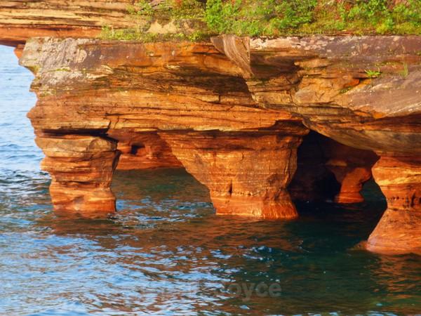Devil's Island sea caves - Bayfield, Wisconsin
