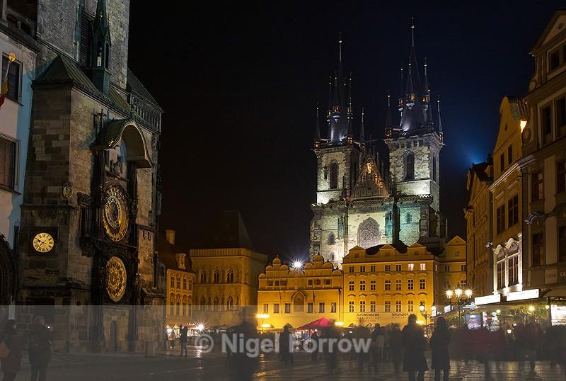 Old Town Square, Prague at night - Prague, Czech Republic