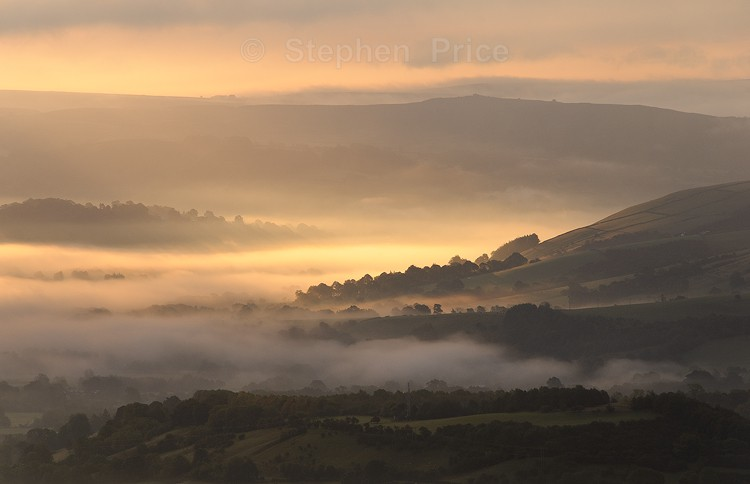 Sunrise and Mist over the Hope Valley | Mam Tor
