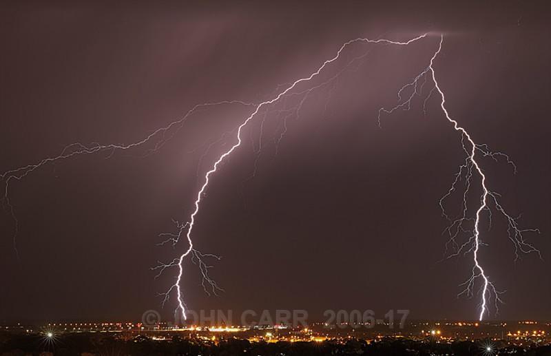 Double hit-1165 - WINTER LIGHTNING STORM PHOTOS 13th June 2012