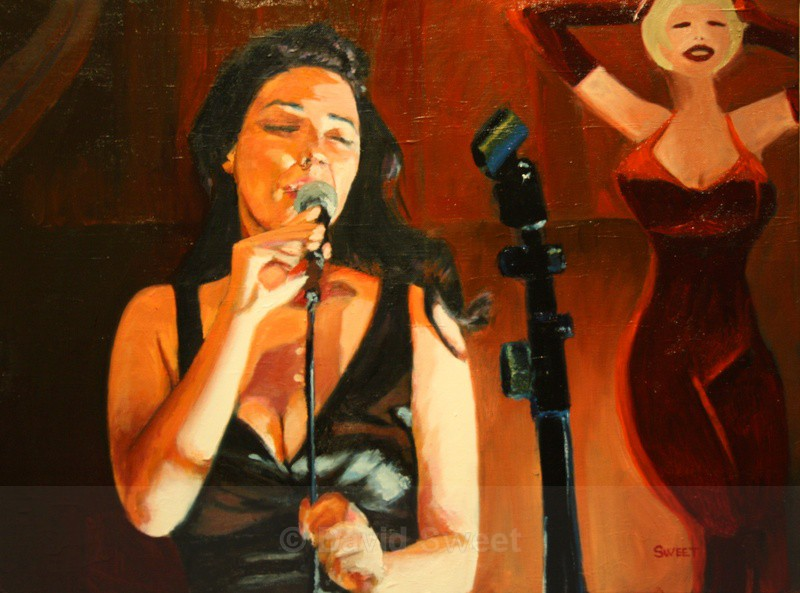 Bert's Bar Jazz - Oil Paintings