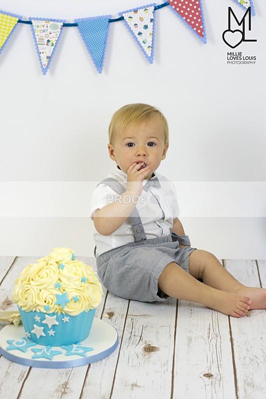Charlies 1st Birthday Cake Smash Millie Loves Louis Photography  48 - Cake Smash Celebrations