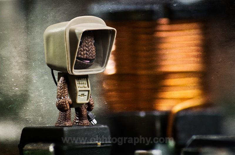 Sackboy fixing a PC - Still Life.