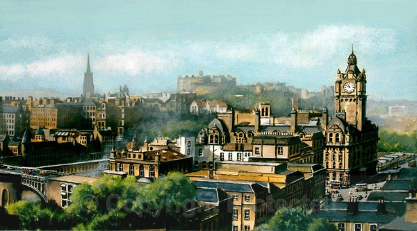 Edinburgh from Calton Hill - ORIGINAL PAINTING NOW SOLD - Edinburgh Paintings