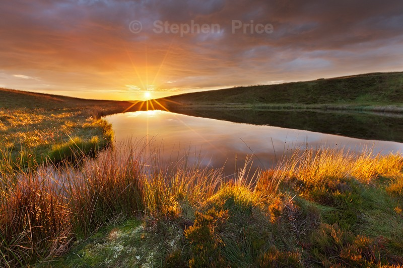 Blake Mere Sunset Evening | Staffordshire Peak District Sunset Photo