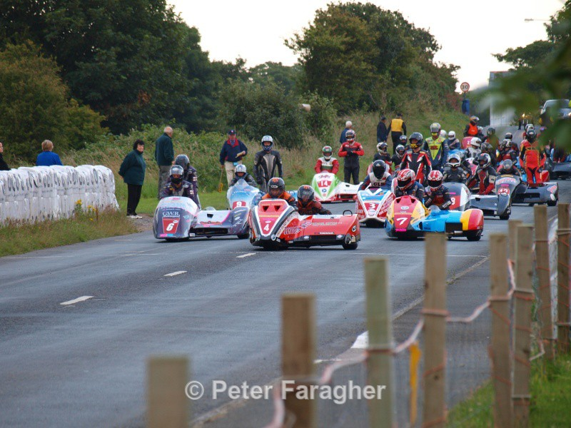 Sidecar Grid - Southern 100 Road Races
