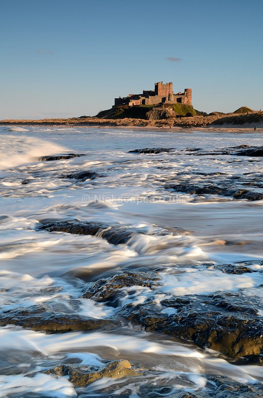 Bamburgh Castle Seascape - Northumberland Coast, UK - Northumberland