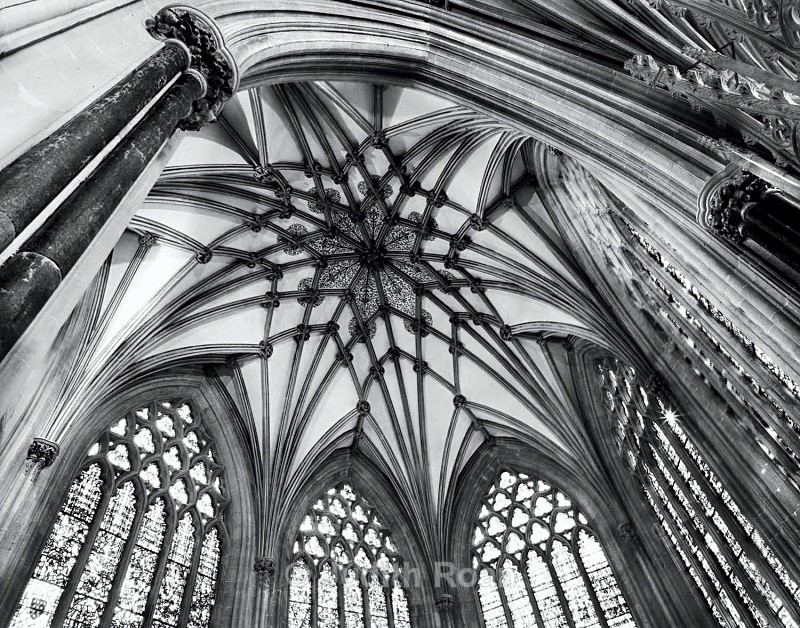 Wells Cathedral Ceiling - Images from England