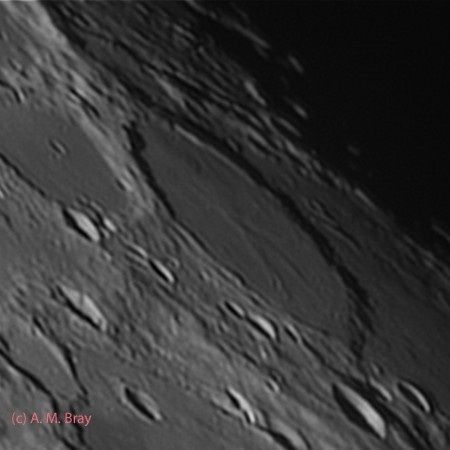 Wargentin, flooded to the rim - Moon: South West Region