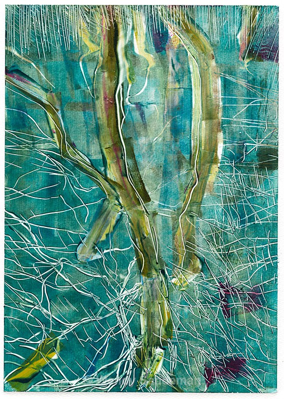 Monoprint Trees - Gallery