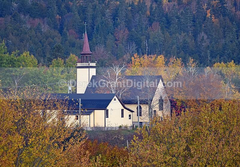 New Brunswick Autumn Foliage Bloomfield Church - Churches of New Brunswick