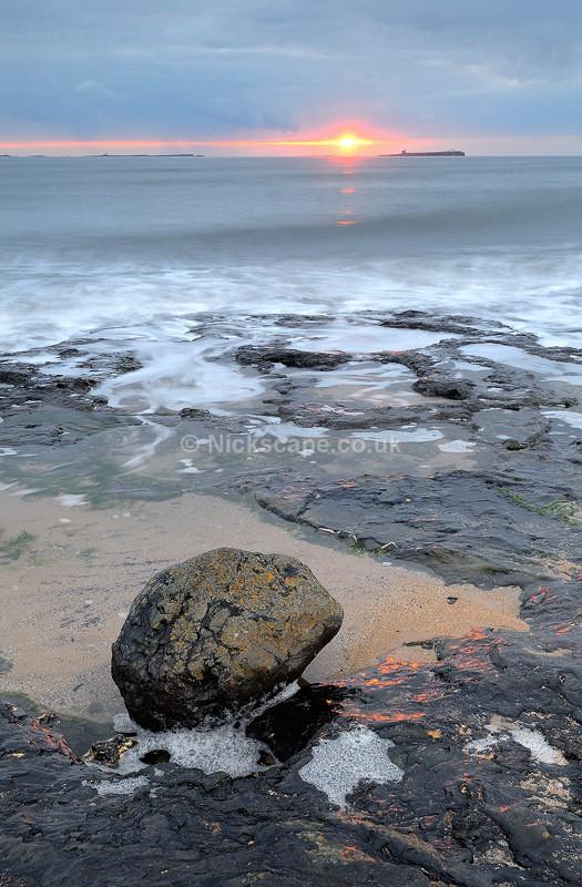 Sunrise at Bamburgh Beach Landscape Photo | Seascape Photography by Nickscape